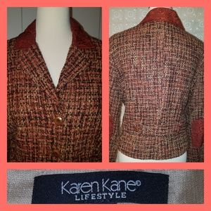 Karen Kane Patch Elbow Tweed